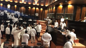 Disagreement Over Whether No-Confidence Motion Against Former President Mahinda Rajapaksa Was Taken Up
