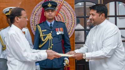 President Sirisena Appoints Ruwan Wijewardena Acting Minister Of Defence Until His Return From China