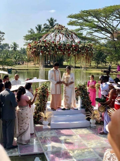 Mahinda Rajapaksa's Youngest Son Rohitha Gets Married In Weeraketiya: Prime Minister Ranil Wickremesinghe Also Attends Wedding