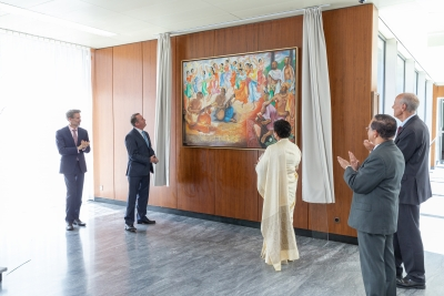 Painting In Honour Of Lakshman Kadirgarmar Unveiled At World Intellectual Property Organization In Geneva