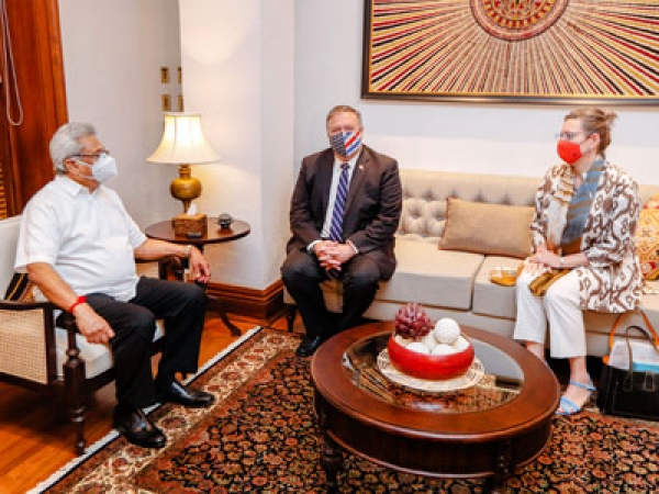 Sri Lanka not caught in a debt trap: President to Pompeo