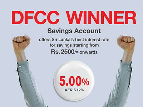 DFCC's Winner account offers best interest rate in country