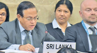 Sri Lanka's Permanent Representative To Geneva Says Country Will Take All Necessary Measures To Defeat Terrorism