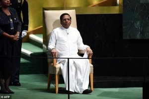 President Sirisena To Leave For New York Tomorrow With His Proposals To Exonerate Sri Lankan Armed Forces
