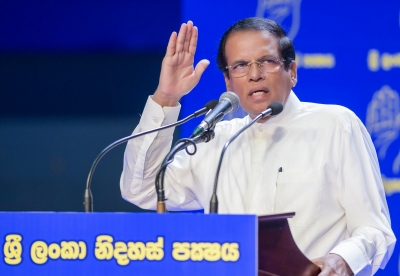 "Sirisena Severely Hits Out At Ranil Again: Says UNP Leader Is A ""Political Curse"" And His Policies Don't Suit The Country"