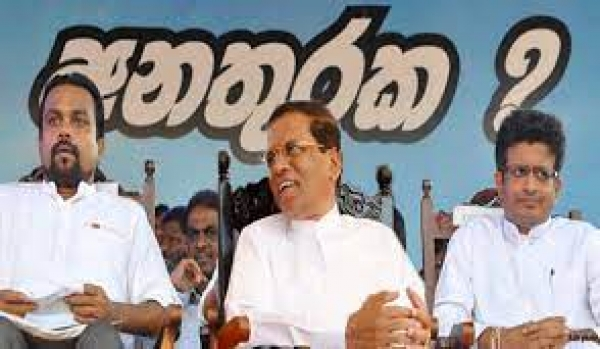 Weerawansa And Gammanpila Meet Former President Sirisena For Special Meeting At SLFP Headquarters