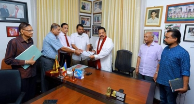 Former Military Commanders Hand Over Separate Report On Easter Sunday Explosions To Opposition Leader Rajapaksa