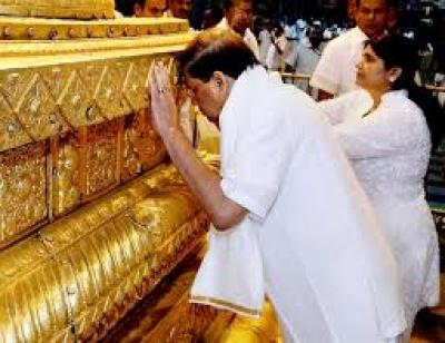 President Sirisena And Family Leave For India On Personal Visit: President To Pay Tribute To Tirupathy Temple