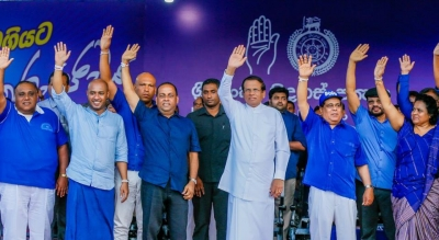"""I Will Not Retire In 2020:"" President Sirisena Says Addressing SLFP's Worst Attended May Day Rally In Recent History"