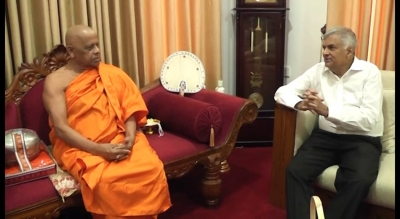 Prime Minister Meets Mahanayake Theras In Kandy To Discuss Preparations For Vesak: Also Briefs Them On Country's Security Situation