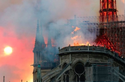 Notre-Dame: Massive Fire Ravages Paris Cathedral: The 850-Year-Old Gothic Building's Spire Collapses