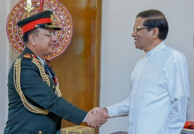 Nepal Army Chief Of Staff Meets President Sirisena In Colombo