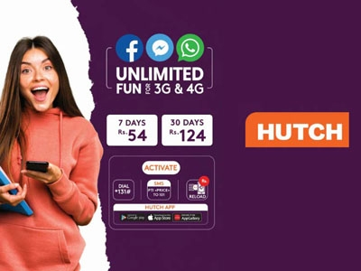 Hutch launches unlimited social media plans for both 3G and 4G subscribers