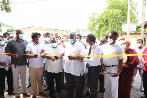Ward For COVID19 Patients At Wathupitiwala Hospital Declared Open In Ceremonious Manner When All Gatherings Are Banned