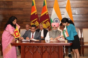 India And Sri Lanka Sign MOU To Set Up Business Centre For IT Incubators In Jaffna Through A Grant Of Rs. 250 Million
