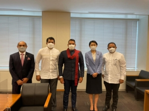 Three State Mininsters Also Touring In Japan With Namal Accompanying Sri Lankan Team Taking Part In Tokyo Olympics