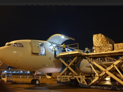 First EgyptAir Cargo flight arrives