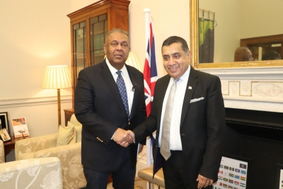 Mangala Samaraweera Meets Lord Tariq Ahmad In London Discuss Sri Lanka's Progress On Human Rights And Reconciliation