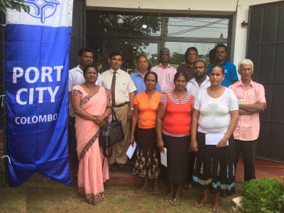 Port City's Fishermen Livelihood Support Society Gifts Rs. 16 million To 8 Village Fishery Associations in Negombo and Wattala