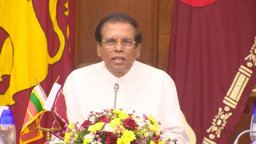 Full Speech By President Maithripala Sirisena After Prime Minister Ranil Wickremesinghe's Swearing-In