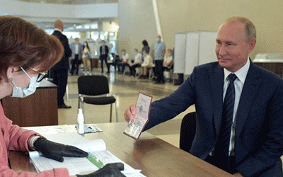 Early results suggest Putin victory in reform vote