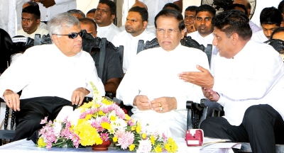 UNP Supporters Shaken By Rumours That Sajith Will Throw His Weight Behind Sirisena: Party Strongman Claims Entire Party Stands Firmly Behind RW