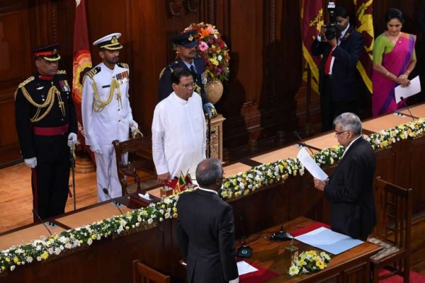 Two State Ministers, Five Deputy Ministers Take Oaths Before President Sirisena