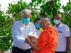 """Former Prime Minister Visits Mahinda's Bastion """"Abhayaramaya"""" Upon Taking Oaths As Parliamentarian"""