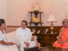BBS General Secretary Galagodaaththe Gnanasara Thera And His Mother Meet President Sirisena At Paget Road Residence