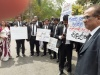 Lawyers In Colombo Stage Silent Protest Near Hulftsdorp Courts Complex Against The Conduct Of Attorney General